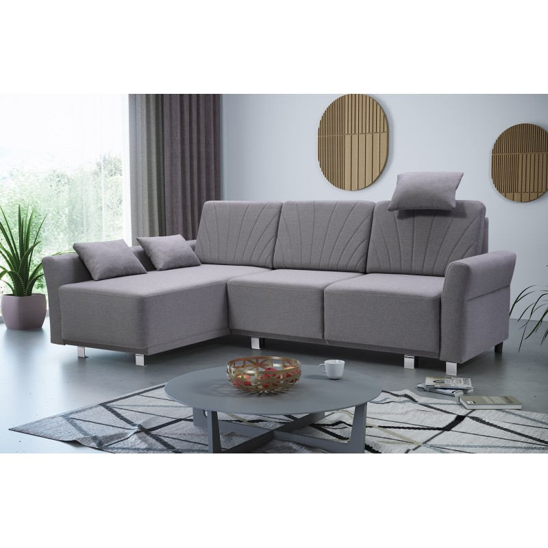 Bmf Molly Modern Corner Sofa Bed Storage Chrome Legs With Hartford Storage Sectional Futon Sofas (View 3 of 15)
