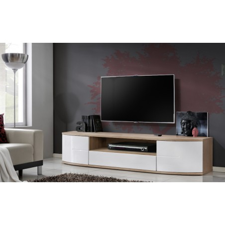 Bmf Ontario Ii Tv Stand 190Cm Wide Push Click High Gloss Throughout Best And Newest Bromley Black Wide Tv Stands (View 10 of 15)