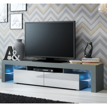 Bmf Solo Tv Stand 200Cm Wide High Gloss Led Lights Modern Throughout Most Popular Zimtown Tv Stands With High Gloss Led Lights (View 6 of 15)