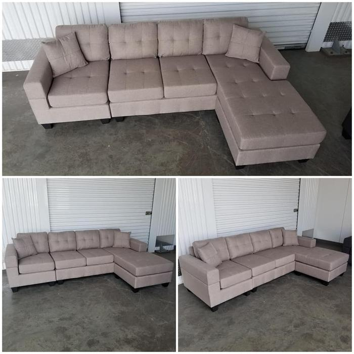 Brand New European Style 4 Seater Lounge Sofa W/Reversible With London Optical Reversible Sofa Chaise Sectionals (View 10 of 15)
