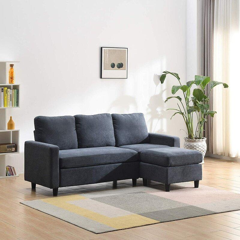 Brayden Studio Aves Reversible Modular Corner Sofa Pertaining To London Optical Reversible Sofa Chaise Sectionals (View 11 of 15)