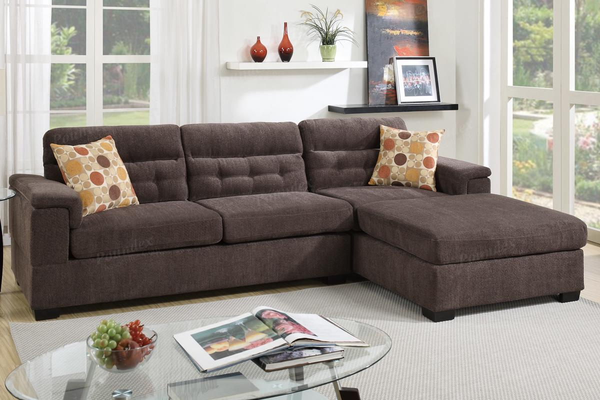 Brown Fabric Sectional Sofa – Steal A Sofa Furniture With Regard To Los Angeles Sectional Sofas (View 1 of 15)
