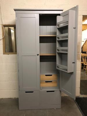 Buckingham Style Painted Larder Cupboard With Internal Pertaining To Recent Lucas Extra Wide Tv Unit Grey Stands (View 15 of 15)