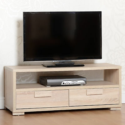 Cambourne Light Sonoma Oak 2 Drawer Tv Unit Shelf Intended For Widely Used Manhattan 2 Drawer Media Tv Stands (View 2 of 15)