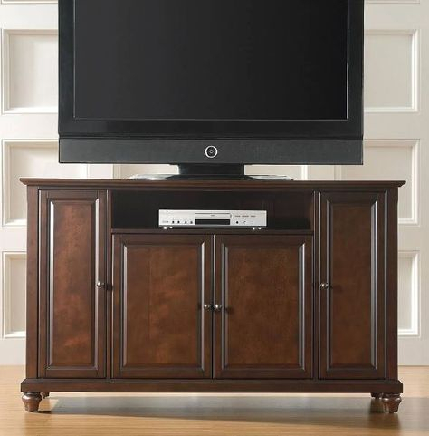 """Cambridge 60"""" Tv Stand In Vintage Mahogany Finish Pertaining To Popular Mahogany Tv Stands (View 4 of 15)"""