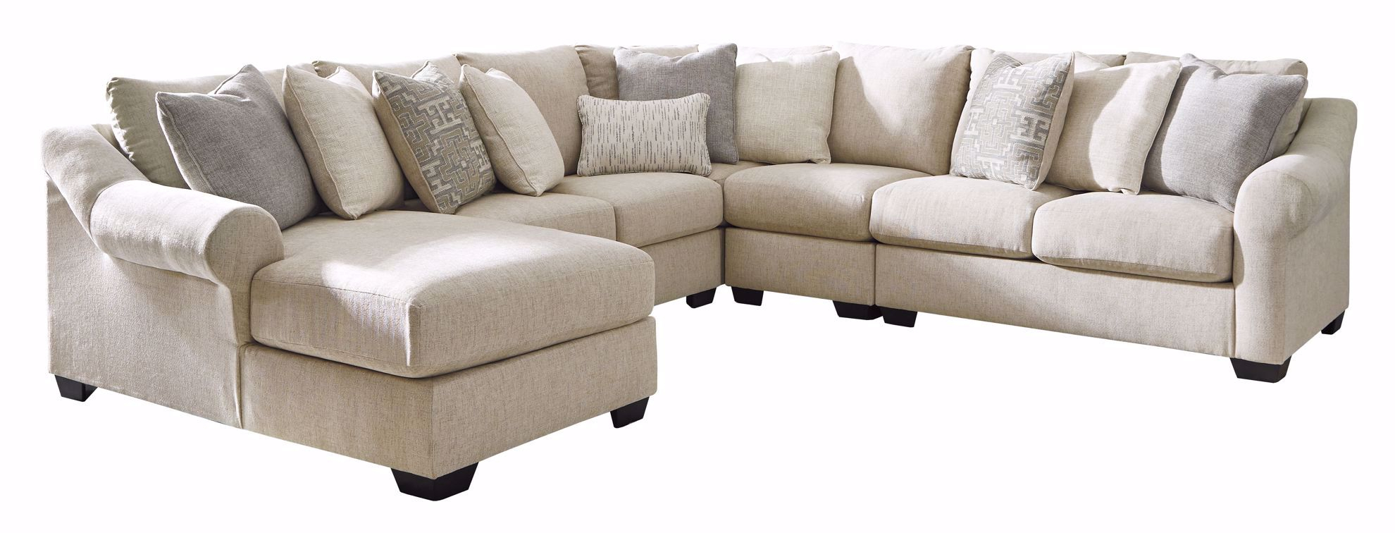 Carnaby Linen 4 Piece Sectional | The Furniture Mart Within Benton 4 Piece Sectionals (View 15 of 15)