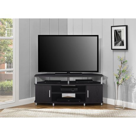 """Carson Corner Tv Stand For Tvs Up To 50"""", Black/Cherry With Famous Cornet Tv Stands (View 4 of 15)"""