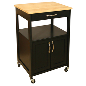 Catskill Craftsmen Utility & Wide Cuisine Kitchen Cart With Well Known Modern Black Tv Stands On Wheels With Metal Cart (View 1 of 15)