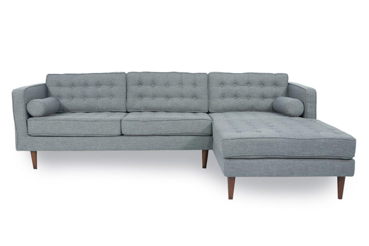 "Cayton 106"" Reversible Sectional   Sectional Sofa, Grey Regarding Verona Mid Century Reversible Sectional Sofas (View 6 of 15)"