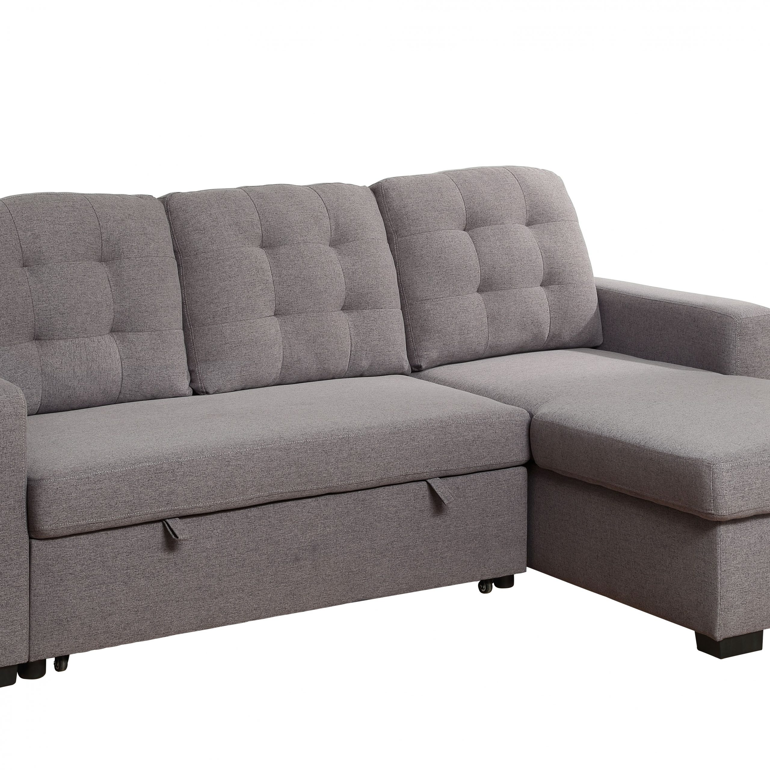Chambord Reversible Storage Sleeper Sectional Sofa In Gray Pertaining To Palisades Reversible Small Space Sectional Sofas With Storage (View 13 of 15)