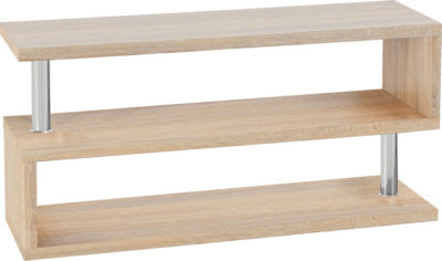 Charisma Tv Stand – Light Sonoma Oak Effect Veneer/Chrome Within Current Cambourne Tv Stands (View 1 of 15)