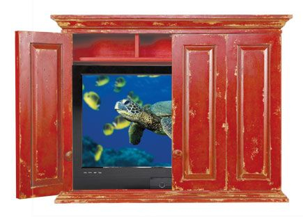 Chatham Hill Caleb Wall Mount Tv Cabinet Pertaining To Most Up To Date Rustic Red Tv Stands (View 11 of 15)