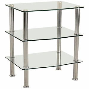 Chrome & Glass Media Entertainment Tv Stand Hifi Shelving Pertaining To Most Current Chromium Tv Stands (View 12 of 15)