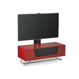 """Chromium 2 Cantilever Tv Stand In Red For 50""""Alphason In 2017 Chromium Tv Stands (View 3 of 15)"""