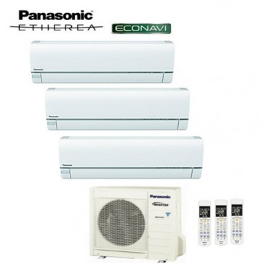 Climatizzatore Panasonic Trial Split Inverter Etherea With Regard To Current Puro White Tv Stands (View 11 of 15)
