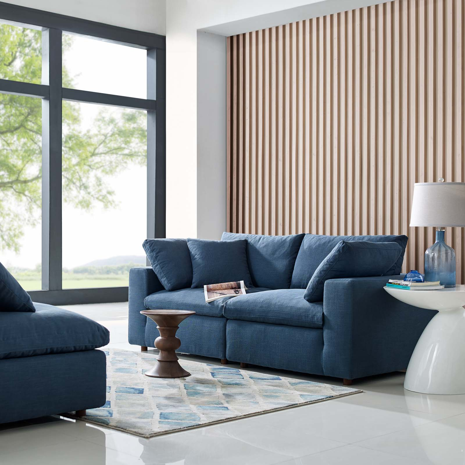 Commix Down Filled Overstuffed 2 Piece Sectional Sofa Set Inside Down Filled Sofas (View 7 of 15)