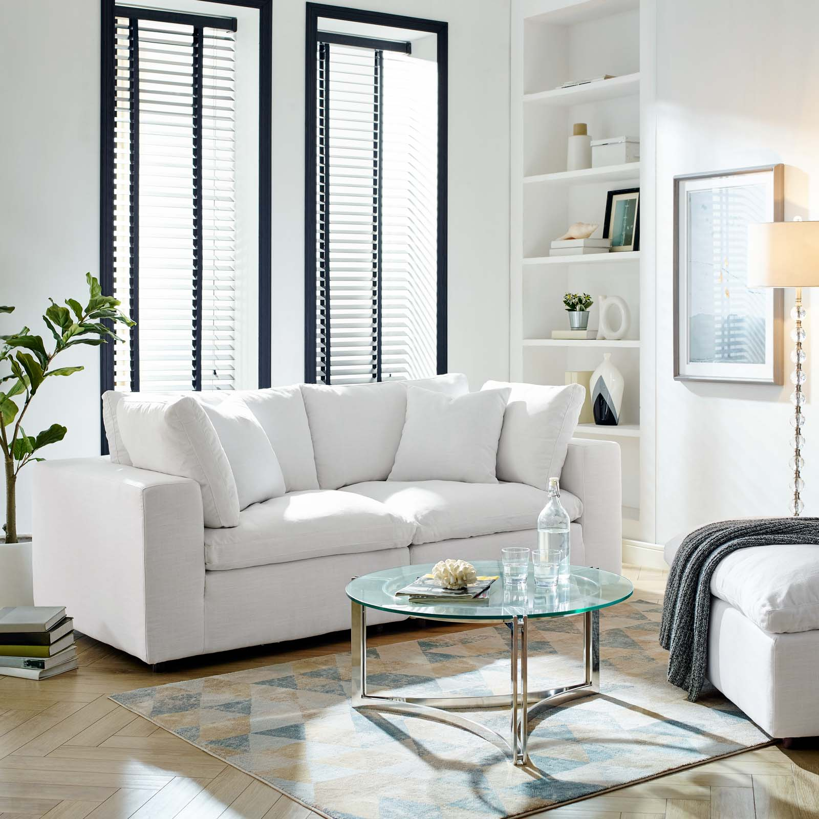 Commix Down Filled Overstuffed 2 Piece Sectional Sofa Set Regarding Down Filled Sectional Sofas (View 15 of 15)