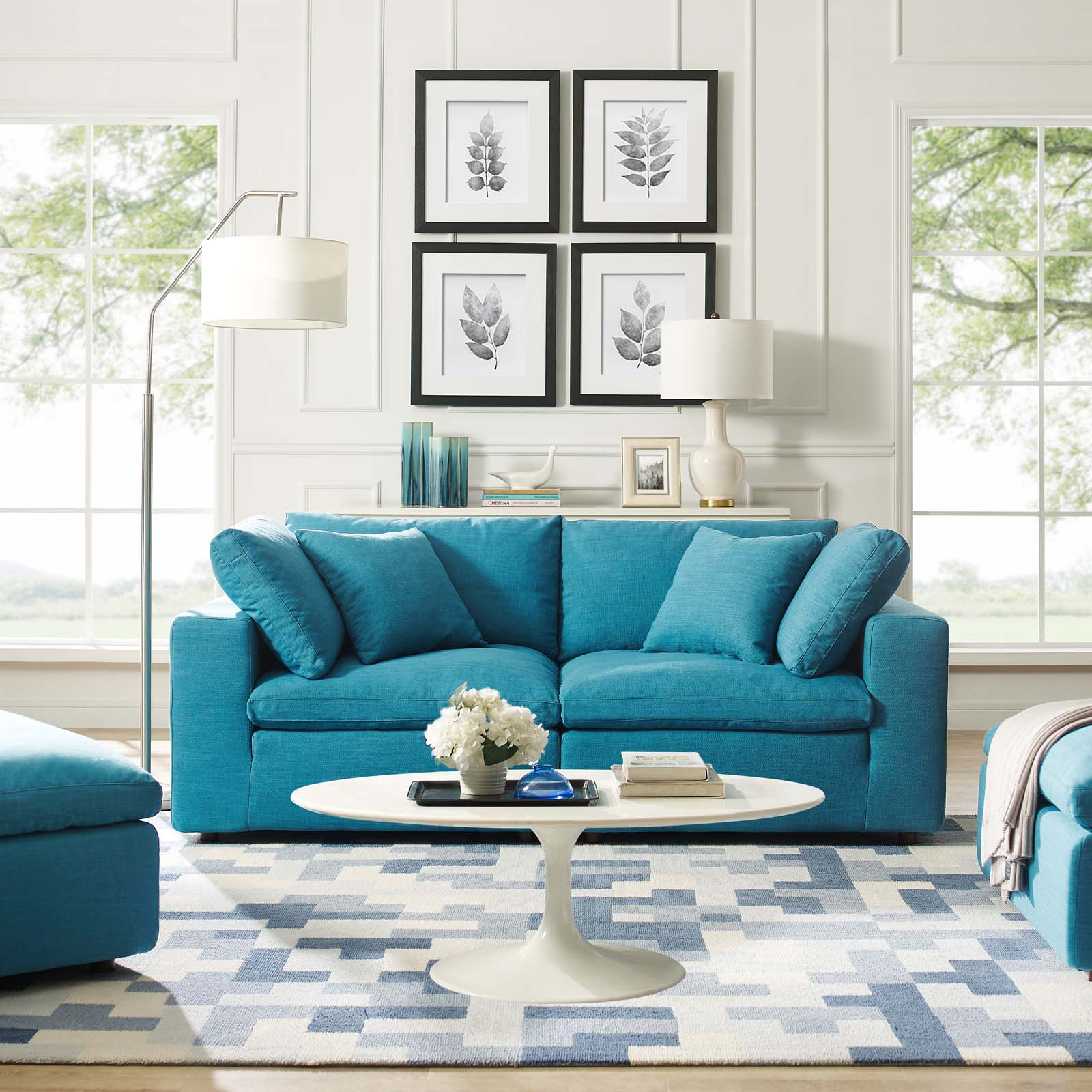 Commix Down Filled Overstuffed 2 Piece Sectional Sofa Set Throughout Down Filled Sectional Sofas (View 6 of 15)