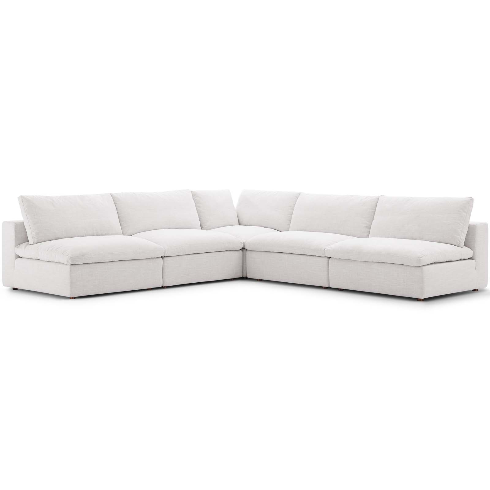 Commix Down Filled Overstuffed 5 Piece Sectional Sofa Set Regarding Down Filled Sectional Sofas (View 2 of 15)
