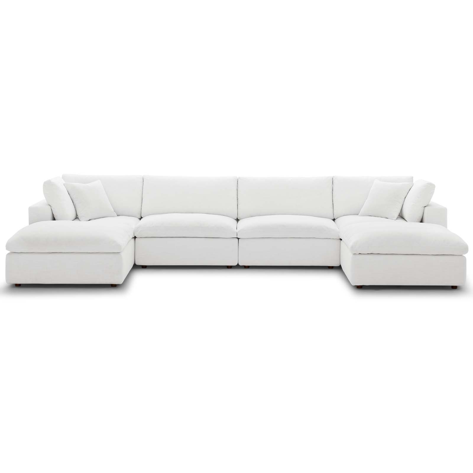 Commix Down Filled Overstuffed 6 Piece Sectional Sofa Set Inside Down Filled Sofas (View 5 of 15)