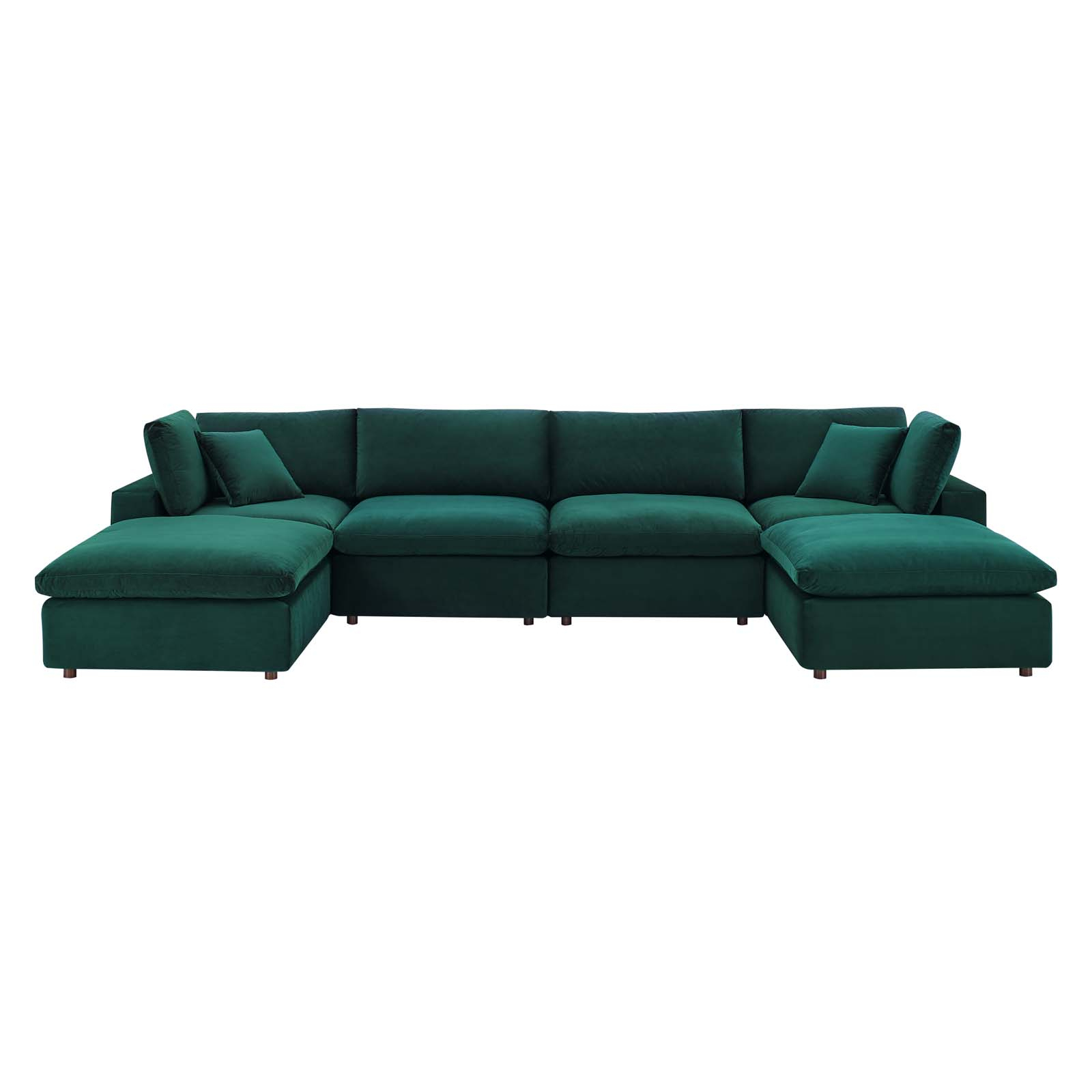 Commix Down Filled Overstuffed Performance Velvet 6 Piece Inside Down Filled Sectional Sofas (View 1 of 15)