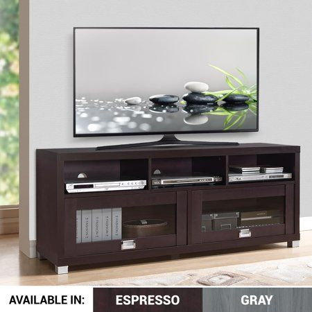 """Console Furniture, Tv Stand Wood, Tv Stand Cabinet In Most Recently Released Techni Mobili 58"""" Durbin Tv Stands In Espresso Or Grey Wood (View 9 of 15)"""