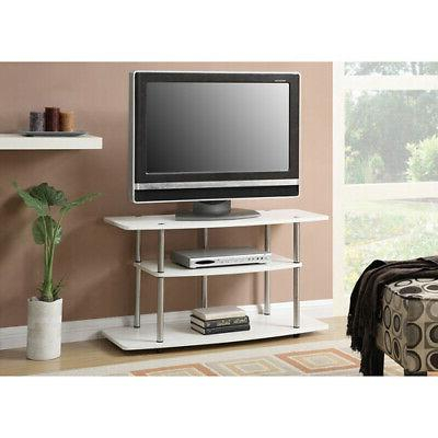 Convenience Concepts Designs2Go 3 Tier Wide Tv Stand, White For Most Recently Released Oliver Wide Tv Stands (View 11 of 15)