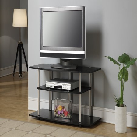 Convenience Concepts Designs2Go No Tools 3 Tier Wide Tv Pertaining To Most Current Harbor Wide Tv Stands (View 2 of 15)