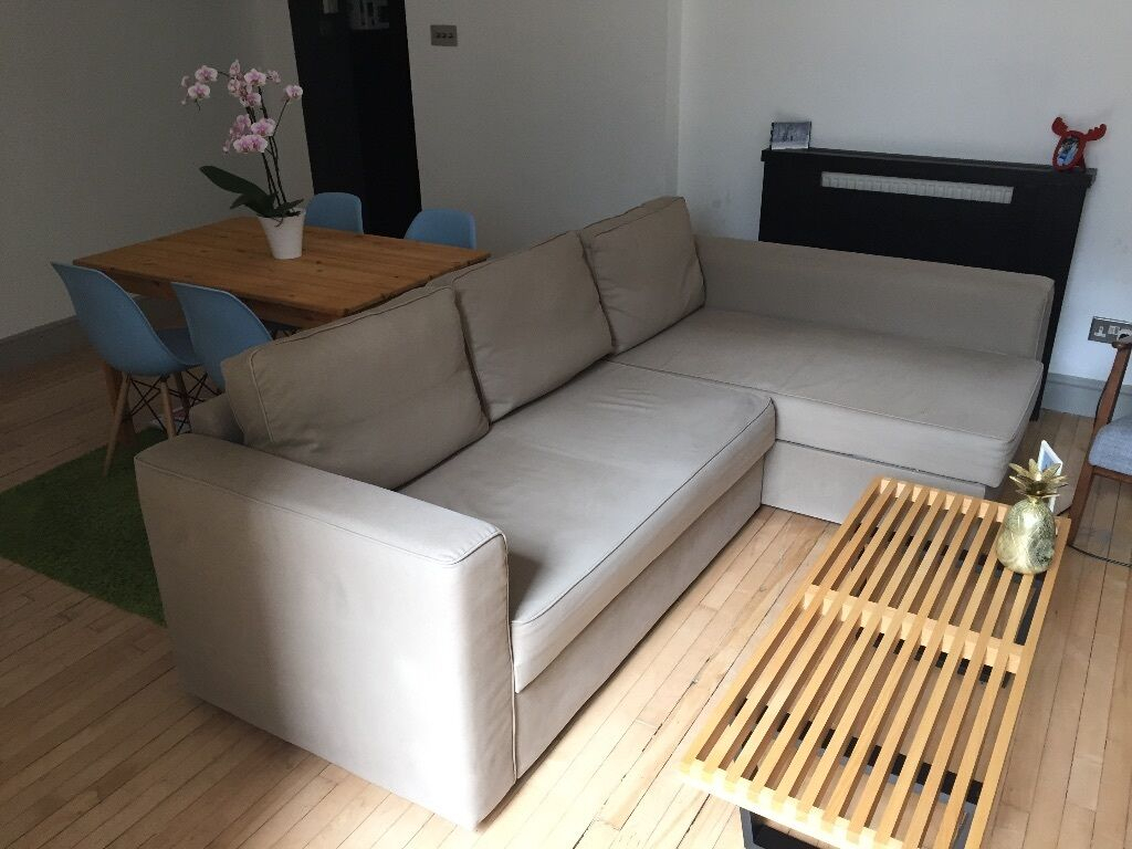 Corner Sofa Bed With Chaise Long And Storage – Ikea For Manstad Sofas (View 10 of 15)