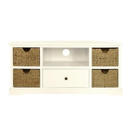 Corner Tv Pertaining To Favorite Compton Ivory Extra Wide Tv Stands (View 4 of 15)