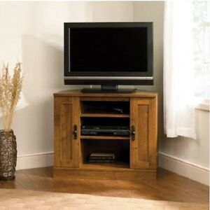 Corner Tv Stand Modern Small Entertainment Center Wooden Pertaining To Trendy Priya Corner Tv Stands (View 5 of 15)