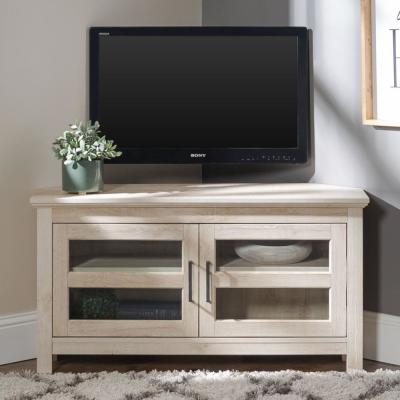 Corner Unit – Coastal – Walker Edison Furniture Company Regarding Most Recently Released White Painted Tv Cabinets (View 2 of 15)