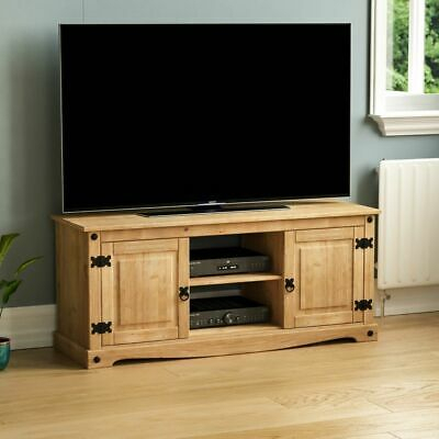 Corona 2 Door 1 Shelf Flat Screen Tv Unit Mexican Solid With Regard To Popular Corona Tv Stands (View 13 of 15)