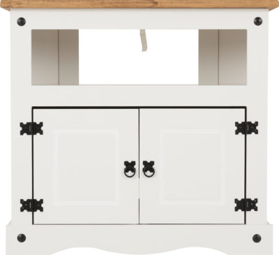 Corona Corner Tv Cabinet – White/Distressed Waxed Pine For 2017 Cambourne Tv Stands (View 11 of 15)