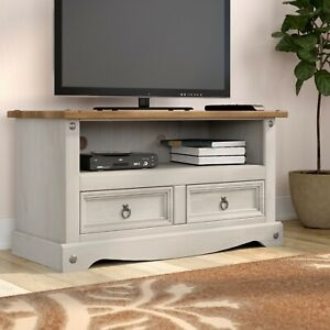 Corona Grey Flat Screen Tv Stand 2 Drawer Unit Cabinet Pertaining To Trendy Corona Tv Stands (View 12 of 15)