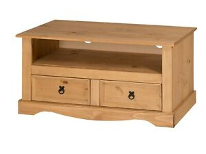 Corona Tv Unit Flat Screen Wide Stand 2 Drawer Solid Pine Throughout Well Liked Corona Tv Stands (View 2 of 15)