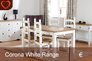 Corona White Dining Collection Inside Favorite Corona Tv Stands (View 15 of 15)