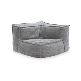 Crash Pad Upholstered Corner Chair, Dove Grey – Overstock With Regard To Most Popular Penelope Dove Grey Tv Stands (View 8 of 15)