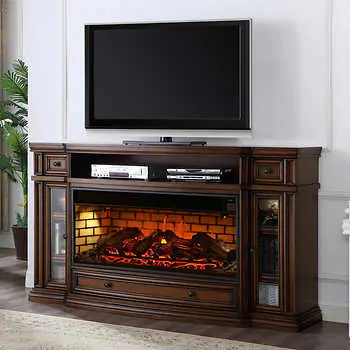 Current 57'' Tv Stands With Led Lights Modern Entertainment Center Pertaining To Fireplace Tv Console Costco – Fireplace Design Ideas (View 10 of 15)