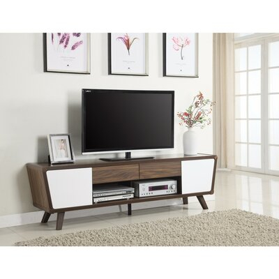 """Current Bustillos Tv Stands For Tvs Up To 85"""" For George Oliver Paul Solid Wood Tv Stand For Tvs Up To  (View 4 of 15)"""