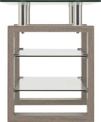 Current Cambourne Tv Stands Throughout Milan Tv Unit – Light Charcoal/Clear Glass/Silver (View 10 of 15)