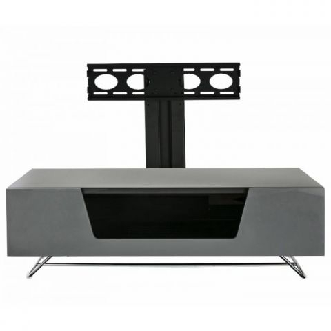 Current Chromium Tv Stands Regarding Chromium 2 120Cm Cantilever Tv Stand In Greyalphason (View 1 of 15)