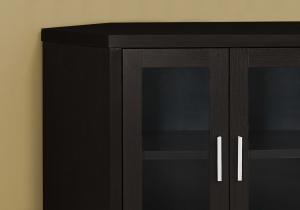 """Current Corner Tv Cabinets With Glass Doors Throughout I 2700 – Tv Stand – 42""""L / Cappuccino Corner With Glass (View 15 of 15)"""