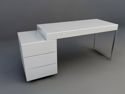 Current Fancy Tv Stands Within Office Furniture 3D Model Download Collection (View 9 of 15)