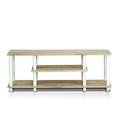 Current Furinno Jaya Large Tv Stands With Storage Bin Intended For & Furinno Turn N Tube No Tools 3D 3 Tier Entertainment Tv (View 6 of 15)