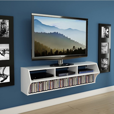 Current Hannu Tv Media Unit White Stands With Flat Screen Tv Stand Modern White Floating Wall Mounted (View 5 of 15)