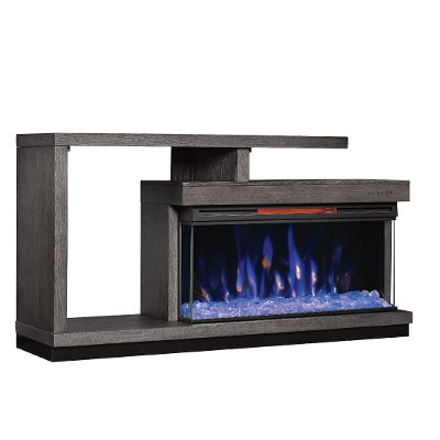 """Current Kasen Tv Stands For Tvs Up To 60"""" Within 3 Piece Oak Modern Fireplace Entertainment Center – Wright (View 12 of 15)"""