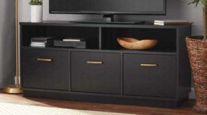 Current Mainstays 3 Door Tv Stands Console In Multiple Colors Inside Mainstays 3 Door Tv Stand Console $99 (Reg $125) Shipped (View 8 of 15)