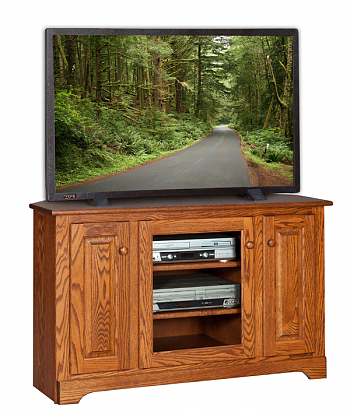 """Current Oliver Wide Tv Stands Pertaining To 48"""" Wide Corner Tv Stand – Amish Furniture Connections (View 3 of 15)"""
