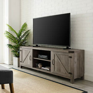 Current Rustic Country Tv Stands In Weathered Pine Finish With Regard To Farm Style Tv Stand Console Up To 65 Entertainment Center (View 10 of 15)